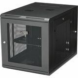 "StarTech.com 12U 19"" Wall Mount Network Cabinet - 24"" Deep Hinged Vented Server Room Enclosure Locking Flexible IT Equipment Rack w/Shelf"