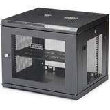 """StarTech.com 9U Wall Mount Server Rack Cabinet - 4-Post Adjustable Depth (2.4"""" to 18.9"""") Network Equipment Enclosure with Cable Management (RK920WALM)"""