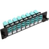 Tripp Lite High-Density Fiber Adapter Panel (MMF/SMF), 8 LC Duplex Connectors, Black