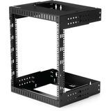 "StarTech.com 12U 19"" Wall Mount Network Rack - Adjustable Depth 12-20"" Open Frame for Server Room /AV/Data/Computer Equipment w/Cage Nuts"