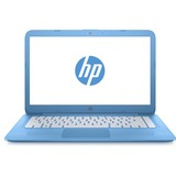 "HP Stream 14-ax000 14-ax040nr 14"" LCD Notebook - Intel Celeron N3060 Dual-core (2 Core) 1.60 GHz - 4 GB DDR3L SDRAM - 64 GB Flash Memory - Windows 10 Home 64-bit - 1366 x 768 - BrightView - Aqua Blue"