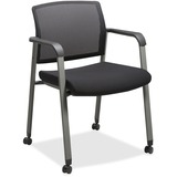 LLR30953 - Lorell Mesh Back Guest Chairs with Casters