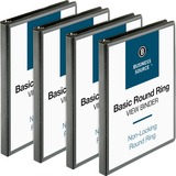 BSN09950BD - Business Source Round-ring View Binder