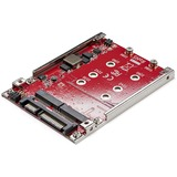 "Dual-Slot M.2 to SATA Adapter - M.2 SATA Adapter for 2.5"" Drive Bay - M.2 Adapter - M.2 SSD Adapter - M.2 NGFF SSD Adapter - RAID"