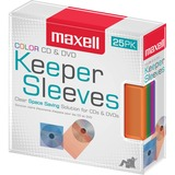 MAX190151 - Maxell CD/DVD Keeper Sleeves - Color (25 Pac...