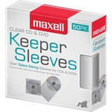 MAX190150 - Maxell CD/DVD Keeper Sleeves - Clear (50 Pac...