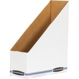 Bankers Box Stor/File Magazine Files - Letter - Blue, White - Fiberboard - 1 Each FEL00723