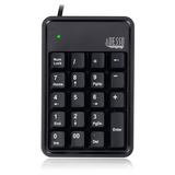 Adesso AKB-600HB 19-Key Mechanical Keypad with 3-Port USB Hub