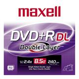 Maxell DVD Recordable Media - DVD+R DL - 2.4x - 8.50 GB - 1 Pack Jewel Case
