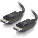 C2G 1ft DisplayPort Cable with Latches 8K UHD M/M - Black