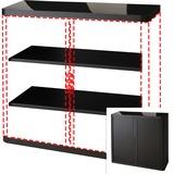 "PPR366014192344 - Paperflow easyOffice 41"" Black Storage Cabin..."