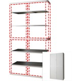 """PPR366014192394 - Paperflow easyOffice 80"""" Gray Storage Cabine..."""