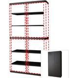 "PPR366014192396 - Paperflow easyOffice 80"" Black Storage Cabin..."