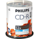 Philips CD Recordable Media - CD-R - 52x - 700 MB - 100 Pack Spindle