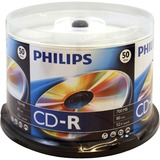 Philips CD Recordable Media - CD-R - 52x - 700 MB - 50 Pack Spindle