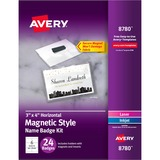 AVE8780 - Avery® Secure Magnetic Name Badges, D...