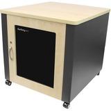 StarTech.com 12U Rack Enclosure Server Cabinet - 21.5 in. Deep - Quiet - Wood Finish