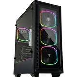 Enermax StarryFort ECA-SF30-M1BB-ARGB Computer Case with RGB Fans