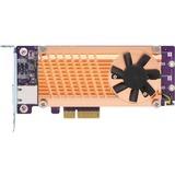 QNAP Dual M.2 2280 SATA SSD & Single-port 10GbE Expansion Card
