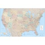 AVT97643 - Advantus Laminated USA Wall Map