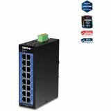 TRENDnet 16-Port Industrial Gigabit L2 Managed DIN-Rail Switch