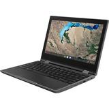 "Lenovo 300e Windows 2nd Gen 81M90061US 11.6"" Touchscreen 2 in 1 Notebook - HD - 1366 x 768 - Intel Celeron N4120 Quad-core (4 Core) 1.10 GHz - 4 GB RAM - 64 GB Flash Memory - Black"