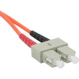 4m SC-SC 62.5/125 OM1 Duplex Multimode PVC Fiber Optic Cable - Orange