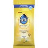 SJN319250 - Pledge Lemon Enhancing Polish Wipes
