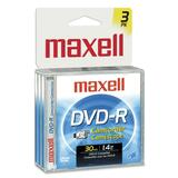 Maxell DVD Recordable Media - DVD-R - 1.40 GB - 3 Pack Jewel Case