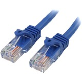 StarTech.com 1 ft Blue Cat5e Snagless RJ45 UTP Patch Cable - 1ft Patch Cord