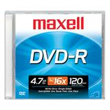 Maxell DVD Recordable Media - DVD-R - 16x - 4.70 GB - 1 Pack Jewel Case
