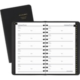 At-A-Glance Telephone and Address Book - Wire Bound - Leather - Recycled - 1 Each AAG8020105