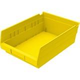 "Akro-Mils Shelf Bin - 4"" Height x 8.4"" Width x 11.6"" Depth - Shelf - Yellow - Polymer - 1Each AKM30150Y"