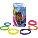 Alliance® Brites Pic-Pac Rubber Bands, Blue/Orange/Yellow/Lime/Purple/Pink, 1-1/2-oz Box ALL07706