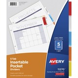 Avery Five Tab Pocket Indexes