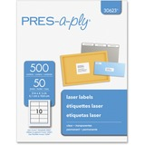 Pres-A-Ply Laser Address Labels, 2 x 4-1/4, Clear, 500/Box  MPN:30623