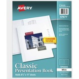 "Avery Classic Presentation Book - Letter - 8 1/2"" x 11 1/2"" Sheet Size - 12 Sheet Capacity - Interna AVE47671"