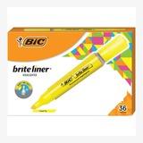 BICBLMG11YW - BIC Brite Liner Fluorescent Highlighter...