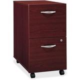 "Bush Business Furniture Series C 2 Drawer Mobile Pedestal - Assembled - 15.7"" x 20.3"" x 28.1"" - 2 -  BSHWC36752SU"