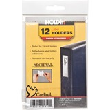 "Cardinal HOLDit! Label Holders - 1"" x 3"" - 12 / Pack - Clear CRD21810"