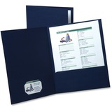 "Oxford Oxford Linen Twin Pocket Portfolio - Letter - 8 1/2"" x 11"" Sheet Size - 2 Internal Pocket(s)  OXF50543"