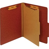 "Pendaflex Letter Classification Folder With Divider - Letter - 8 1/2"" x 11"" Sheet Size - 1"" Fastener PFXPU41RED"