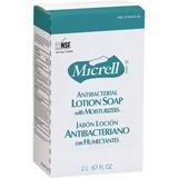 Micrell NXT Maximum Capacity Antibacterial Lotion Soap Refill - 67.6 fl oz (2 L) - Amber - Anti-bact GOJ225704EA