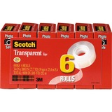 "MMM600K6 - Scotch Transparent Tape - 3/4""W"