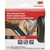 """3M Safety Walk Step and Ladder Tread Tape - 2"""" Width x 15 ft Length - 1 Each - Black MMM7635NA"""