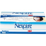 Nexcare Ear Loop Filter Mask - Bacteria Protection - Polypropylene, Polyethylene, Aluminum - White - MMMH1820