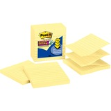 "Post-it Super Sticky Pop-up Notes, 4 in x 4 in, Canary Yellow, Lined - 450 - 4"" x 4"" - Square - 90 S MMMR440YSS"
