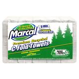 Marcal® Embossed Paper Towels, C-fold, White, 150/Pack MRC6724