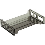 "OIC Side Loading Stackable Desk Tray - 2.8"" Height x 13.2"" Width x 9"" Depth - Desktop - Smoke - 1Eac OIC21001"