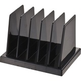 "OIC Compact Desk Sorter - 5 Compartment(s) - 5"" Height x 4.1"" Width x 3.5"" Depth - Desktop - Black - OIC21202"